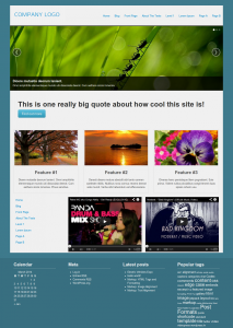 Content displayed with a Layout