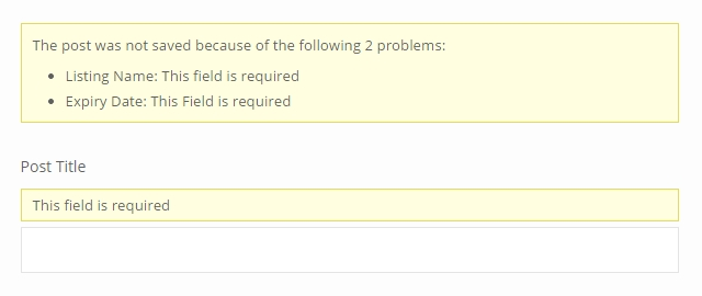 Styling CRED - error messages