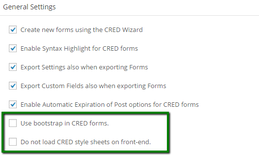 Styling CRED - settings screen