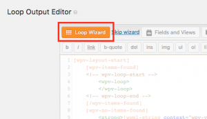Button to launch the Layout Wizard in Views