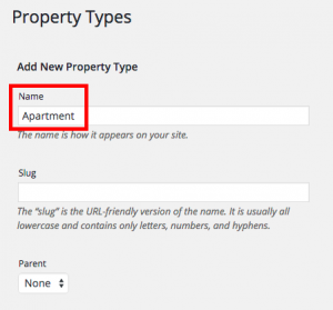 Add the apartment term