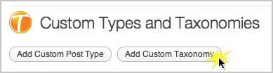 Haga clic en Agregar taxonomía personalizada