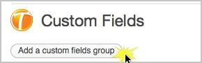 """Klicken Sie auf """"Benutzerdefinierte Feldergruppe hinzufügen"""""""