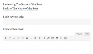 Form with link to the referred item.