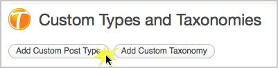 Klicken Sie auf Neuen benutzerdefinierten Beitragstyp hinzufügen