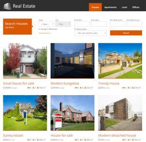 Benutzerdefinierte Suche nach Häusern, anhand von Feldern und Taxonomie