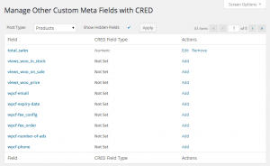 Custom fields settings in CRED.
