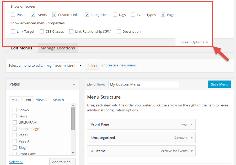 how to add search to menu wordpress