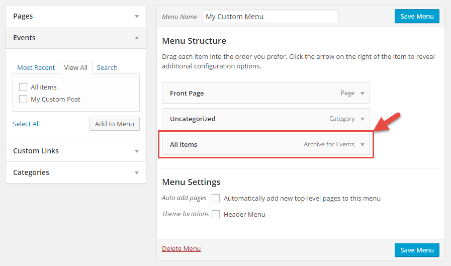 how to make custom page in wordpress