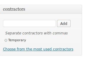 Contractor taxonomy
