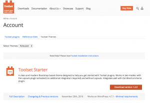 Where to download Toolset Starter