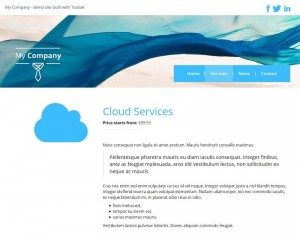 3. Single service page