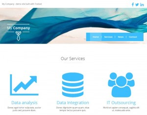 2. Homepage displaying services (among other things)