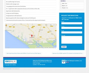 Single property page on imoalk.com- map and contact form