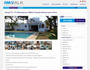 Single property page on imoalk.com—gallery and property details