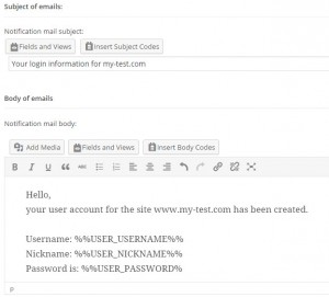 CRED User Form - Example
