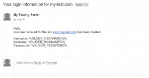 CRED User Form - Test Email