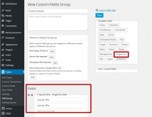 Adding new custom fields to WooCommerce products