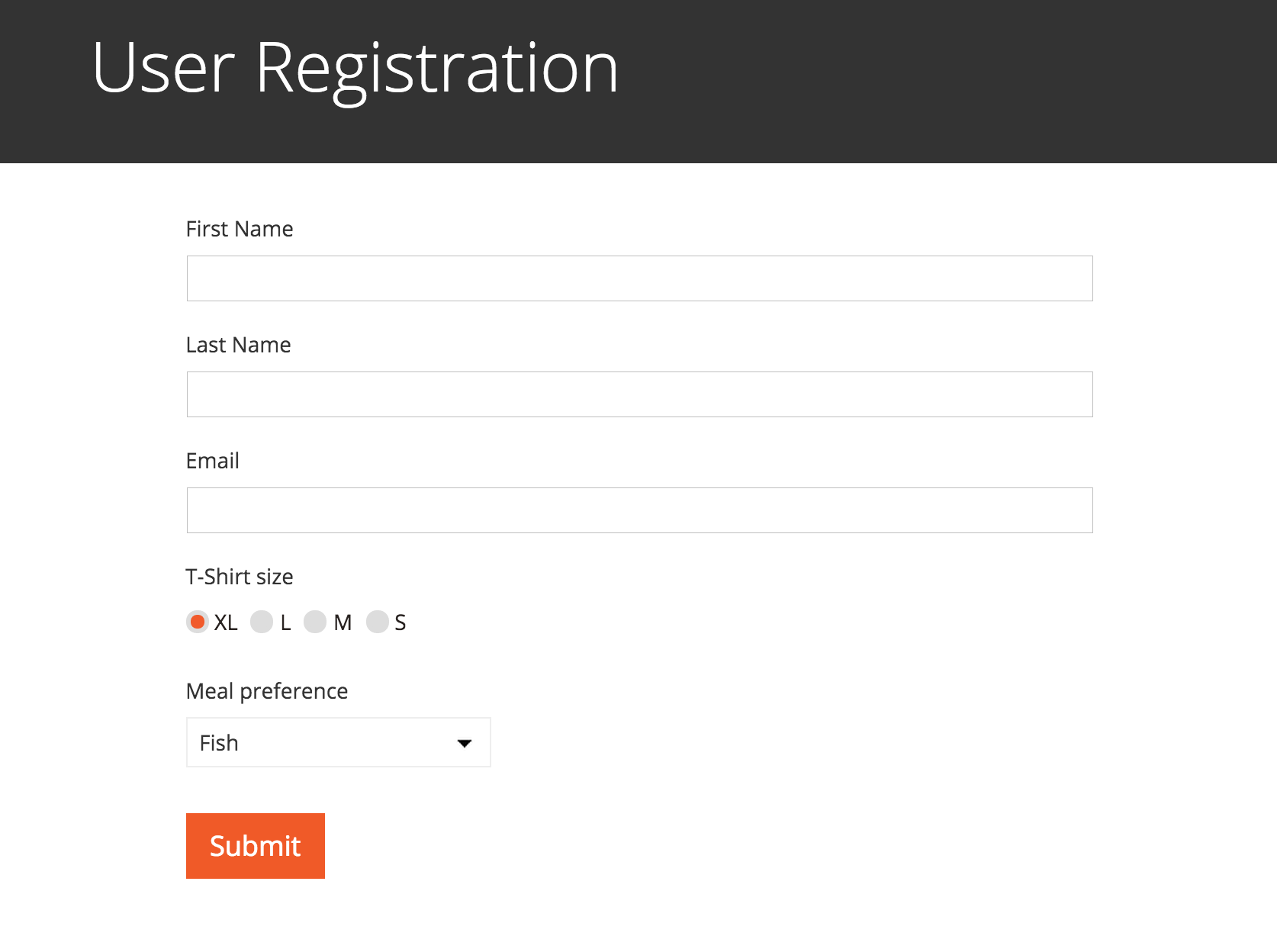 Formabcneoddnsorg Gorgeous Frontend User Registration And Editing – Basic Order Form Template
