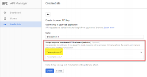 Restricting access requests for a Google Map API Key