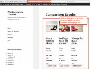 Comparison Results page