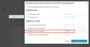 Adding navigation controls as clickable dots