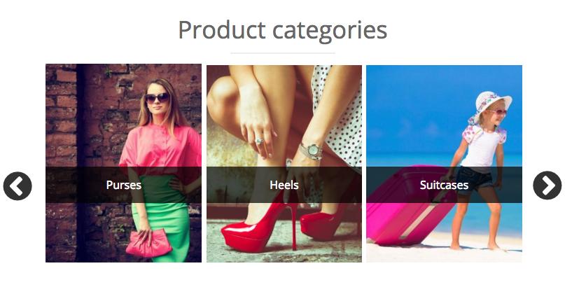 woocommerce product categories slider