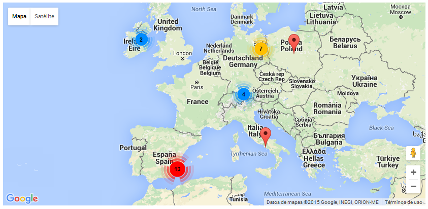 Displaying WordPress Content On Google Maps Toolset - Portugal map google