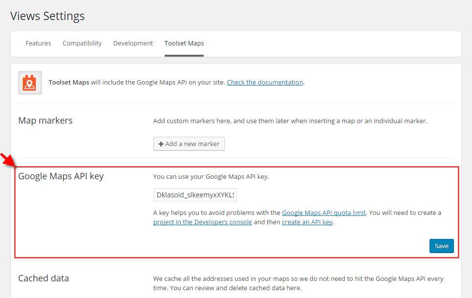 Data caching for google maps addresses toolset - Google map api key console ...