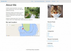 Front-end example of a site built with Layouts and Cornerstone