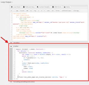 Adding Custom JavaScript code for Toolset Maps in Views
