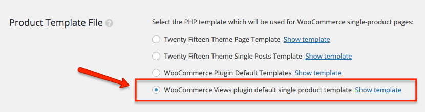 Bringing the WooCommerce single-product template under the WooCommerce Views control