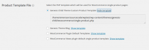 New option for our copied template file in WooCommerce Views settings