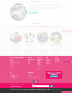 The PPSI site's footer on the front-end