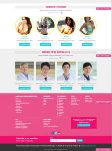 Bottom part of the Single Surgeon page - front-end