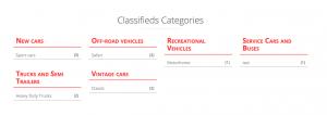 Kategoriebaum, erstellt mit Toolset-Plugins