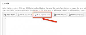 Auto-Generate Form option