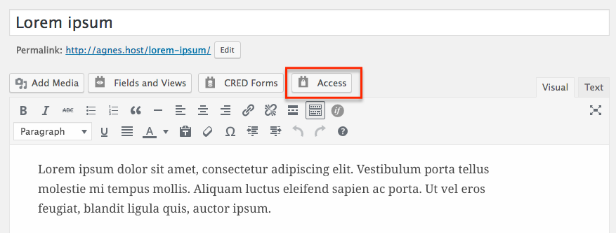 How to restrict access to certain parts of your post