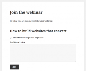 What VIP members will see - joining a webinar