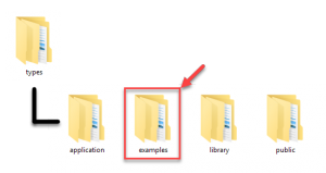 Example folder as found under the Types plugins' directory