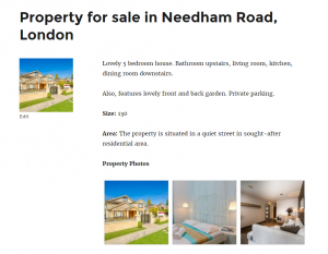 Property photos gallery displayed using a repeating image field