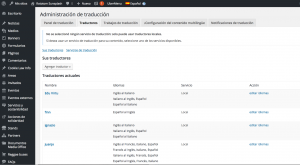 Translators of the rototom.com setup with the WPML Translation Management plugin