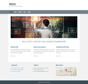 Home page with Genesis and Toolset