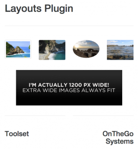 All images set as responsive and rendered on a small screen.