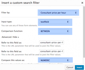 Adding price range as a filter