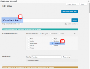 Setting up a search View