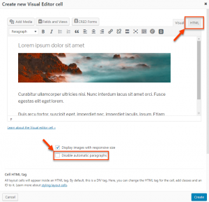 Visual Editor With Editing Modes Highlighted