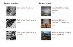 View that displays lists of content