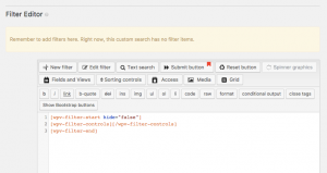 You build your Search Form in the Filter Editor