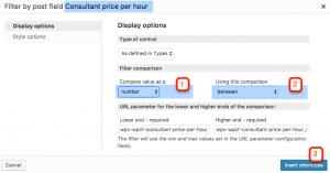 Adding price range as a filter